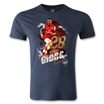 Arsenal Gibbs Player Men's Fashion T-Shirt (Navy)