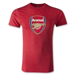 Arsenal Crest Men's Fashion T-Shirt (Heather Red)