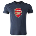 Arsenal Crest Men's Fashion T-Shirt (Navy)
