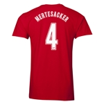 Arsenal Mertesacker 4 Men's Fashion T-Shirt (Red)