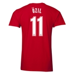 Arsenal Ozil 11 Men's Fashion T-Shirt (Red)