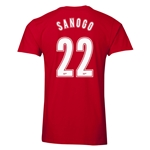 Arsenal Sanogo 22 Men's Fashion T-Shirt (Red)