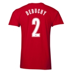 Arsenal Debuchy 2 Men's Fashion T-Shirt (Red)