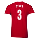 Arsenal Gibbs 3 Men's Fashion T-Shirt (Red)