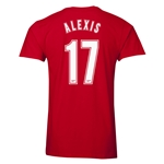 Arsenal Alexis 17 Men's Fashion T-Shirt (Red)