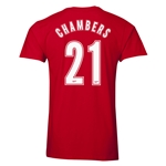 Arsenal Chambers 21 Men's Fashion T-Shirt (Red)
