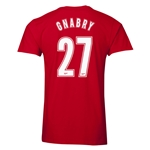 Arsenal Gnabry 27 Men's Fashion T-Shirt (Red)