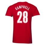 Arsenal Campbell 27 Men's Fashion T-Shirt (Red)