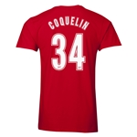 Arsenal Coquelin 34 Men's Fashion T-Shirt (Red)