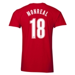 Arsenal Monreal 18 Men's Fashion T-Shirt (Red)