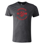 Atletico Madrid Distressed Property Men's Fashion T-Shirt (Dark Gray)