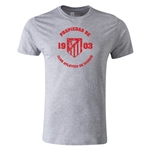 Atletico Madrid Distressed Property Men's Fashion T-Shirt (Gray)