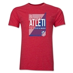 Atletico Madrid El Atleti Men's Fashion T-Shirt (Heather Red)