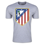 Atletico Madrid Crest Men's Fashion T-Shirt (Gray)