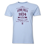 Aston Villa Distressed Men's Fashion T-Shirt (Sky Blue)