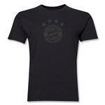 Bayern Munich Team Badge Men's Fashion T-Shirt (Black)