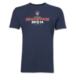Bayern Munich 2014 Bundesliga Champions Men's Fashion T-Shirt (Navy)
