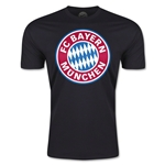 Bayern Munich Logo Men's Fashion T-Shirt (Black)