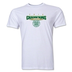 Celtic 2014 Champions Men's Fashion T-Shirt (White)