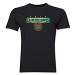 Celtic 2014 Champions Men's Fashion T-Shirt (Black)