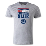 Chelsea Red White and Blue Men's Fashion T-Shirt (Gray)