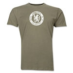 Chelsea Distressed Emblem Men's Fashion T-Shirt (Dark Green)