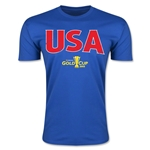 CONCACAF Gold Cup 2015 USA Big Logo Men's Fashion T-Shirt (Royal)