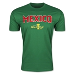 CONCACAF Gold Cup 2015 Mexico Big Logo Men's Fashion T-Shirt (Green)