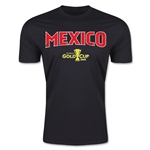 CONCACAF Gold Cup 2015 Mexico Big Logo Men's Fashion T-Shirt (Black)