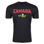 CONCACAF Gold Cup 2015 Canada Big Logo Men's Fashion T-Shirt (Black)