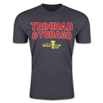 CONCACAF Gold Cup 2015 Trinidad & Tobago Big Logo Men's Fashion T-Shirt (Dark Grey)