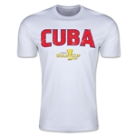 CONCACAF Gold Cup 2015 Cuba Big Logo Men's Fashion T-Shirt (White)