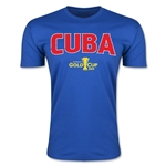 CONCACAF Gold Cup 2015 Cuba Big Logo Men's Fashion T-Shirt (Royal)