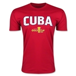CONCACAF Gold Cup 2015 Cuba Big Logo Men's Fashion T-Shirt (Red)