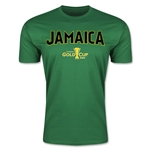 CONCACAF Gold Cup 2015 Jamaica Big Logo Men's Fashion T-Shirt (Green)