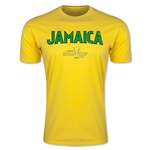 CONCACAF Gold Cup 2015 Jamaica Big Logo Men's Fashion T-Shirt (Yellow)