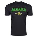 CONCACAF Gold Cup 2015 Jamaica Big Logo Men's Fashion T-Shirt (Black)