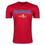 CONCACAF Gold Cup 2015 Panama Big Logo Men's Fashion T-Shirt (Red)