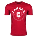 CONCACAF Gold Cup 2015 Canada Men's Fashion T-Shirt (Red)