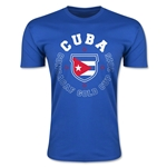 CONCACAF Gold Cup 2015 Cuba Men's Fashion T-Shirt (Royal)