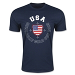 CONCACAF Gold Cup 2015 USA Men's Fashion T-Shirt (Navy)