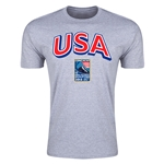 USA CONCACAF 2015 Men's Olympic Qualifying Men's Fashion T-Shirt (Gray)