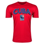 Cuba CONCACAF 2015 Men's Olympic Qualifying Men's Fashion T-Shirt (Red)