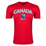 Canada CONCACAF 2015 Men's Olympic Qualifying Men's Fashion T-Shirt (Red)