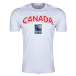 Canada CONCACAF 2015 Men's Olympic Qualifying Men's Fashion T-Shirt (White)