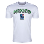 Mexico CONCACAF 2015 Men's Olympic Qualifying Men's Fashion T-Shirt (White)