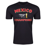 Mexico CONCACAF 2015 Cup Champions Men's Fashion T-Shirt (Black)