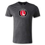 Charlton Athletic Crest Men's Fashion T-Shirt (Dark Gray)