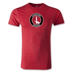 Charlton Athletic Crest Men's Fashion T-Shirt (Heather Red)