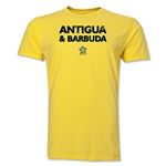 Antigua & Barbuda CONCACAF Distressed Men's Fashion T-Shirt (Yellow)